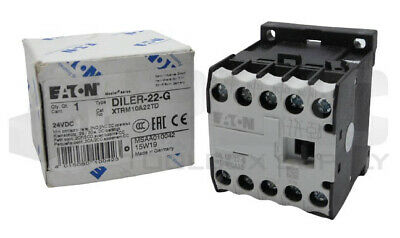 24VDC 24 V DC Eaton DILER-22-G Contactor de Maniobra 2 NO con 2 NC