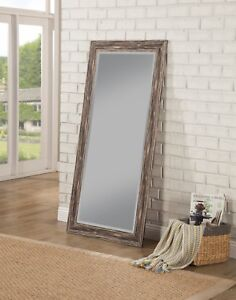 Image Is Loading Full Body Length Mirror Floor Wall Leaning Distressed