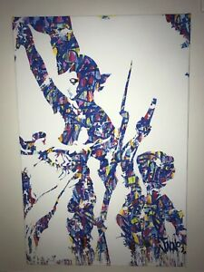 Jonone Liberté Egalité Fraternité Rare Limited Edition Canvas Print 97x65cm Neuf Limpide à Vue