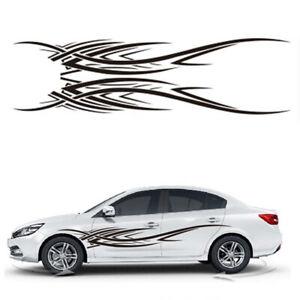 2x-Car-Vinyl-Decal-Sticker-Flame-Style-Stripe-For-Race-Car-Side-Body-Decor-DIY