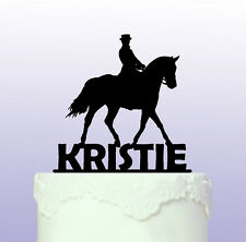 Personalised Dressage Horse Cake Topper