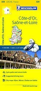 Cote-d-039-Or-Saone-et-Loire-Michelin-Local-Map-320-Michelin-Local-Maps-by-Michel