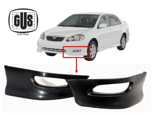 For 05 08 Toyota Corolla S Factory Style Front Bumper Lips L-R 2pcs