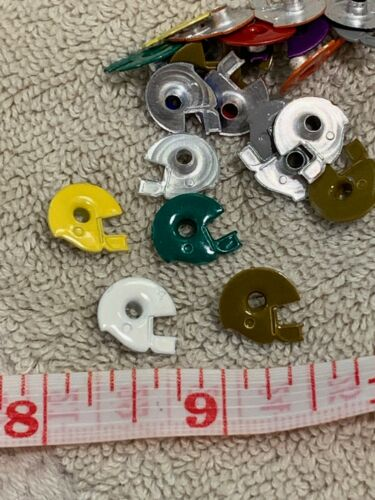 Collage Art 20 Aluminum Eyelets Football Helmets For Scrapbooks Jewelry