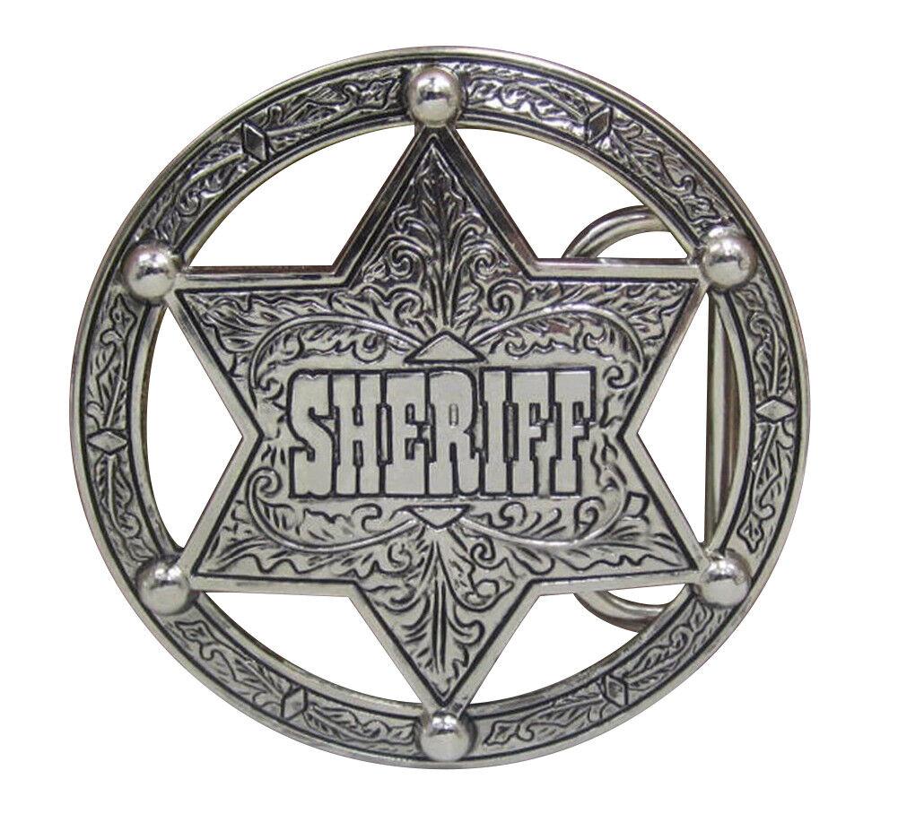 Gürtelschnalle Stern Von Sheriff Kreis Stil Western