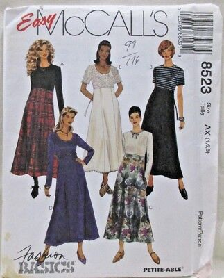 8523 UNCUT Vintage McCalls SEWING Pattern Misses High Waisted Dress Gored Skirt