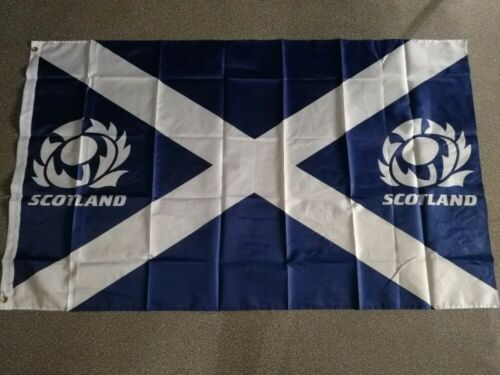 SCOTLAND RUGBY FLAG 3x5FT 90x150CM TWO GROMMETS