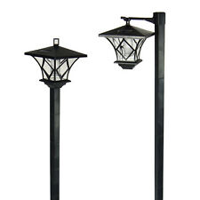 6 outdoor garden led antique solar landscape path lights lamp post dual purpose antique courtyard outdoor lighting 1