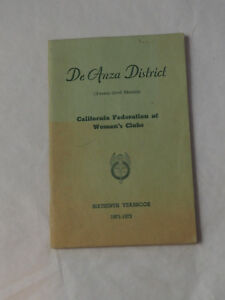 California-Federation-of-Women-039-s-Clubs-DeAnza-District-1972-Yearbook