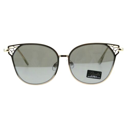 Womens Metal Rim Butterfly Diva Designer Fashion Sunglasses