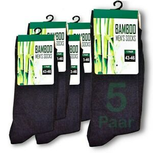 43-46 Schwarz 5 Paar Premium Bambus Socken 200 Needles 13,00€/1stk
