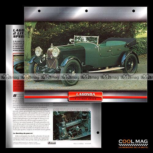 #102.08 ★ LAGONDA 2 LITRES SPEED 1932 ★ Fiche Auto Classic Car card