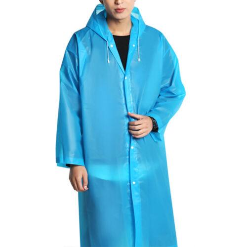 Femme Veste Imperméable Transparent Eva de Pluie Long Manteau Capuche Poncho