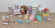 Calico Critters / Sylvanian Families Nursery furniture with Babies, Stroller