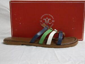 Johnston & Murphy Sz 8 M Tia Tia Tia Cognac Leder Flip Flops Sandales New 9f30e0