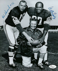 PACKERS-Willie-Davis-Bob-Skoronski-signed-8x10-photo-JSA-COA-AUTO-Autographed