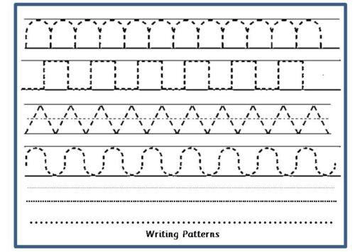 Écrit Patterns-A4 Facile à Nettoyer Tapis-Avec chiffon sec Pen-Pen Control-Writing