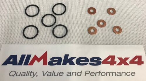 ALLMAKES 4X4 TD5 FUEL INJECTOR SEALING RINGS & WASHERS ERR6417 & ERR7004