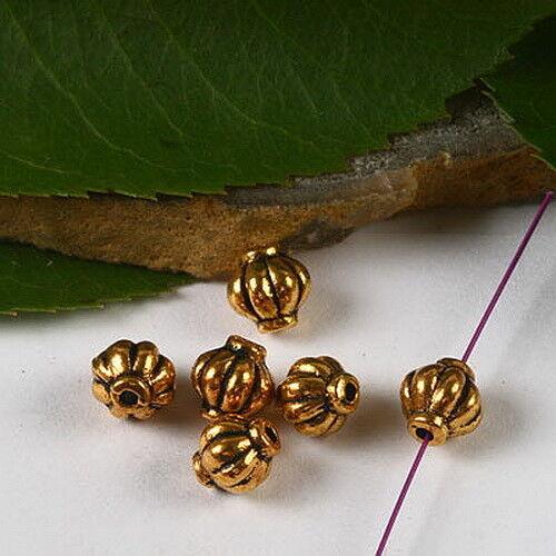 50pcs dark gold-tone spacer beads h2918