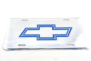 Chevy license plate bow tie chevrolet tag gm corvette sign logo emblem stingray