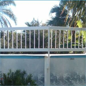 Above Ground Swimming Pool White Resin Safety Fence Choose By