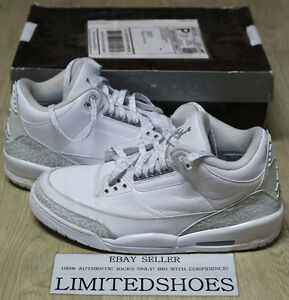 NIKE AIR JORDAN 3 III RETRO 25TH ANNIVERSARY SILVER PURE MONEY ... 47e0e0999