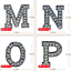 miniature 5 - Rhinestone Letter Patches Sew on Iron on Alphabet Patch Letters Embroidered A-Z