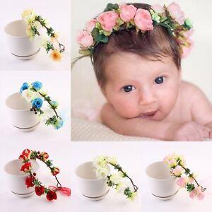 Image is loading Children-Kids-Baby-Girls-Flowers-Headband-Floral-Headwear- c50baf49b0b