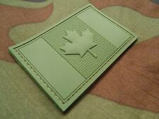 3D PVC CANADA FLAG RUBBER CANADIAN FOREST OD GREEN VELCRO® BRAND FASTENER PATCH