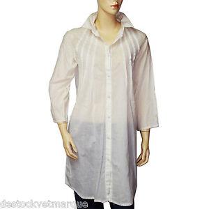 robe casse CARVA femme blanc tunique CHIPIE qPfdIwn