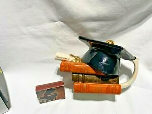 swineside teapottery   mortar board college graduation hat  teapot bnib