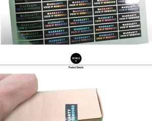 Garantie Autocollant Void If Removed 10x30mm Inviolables Hologram étiquettes-afficher Le Titre D'origine