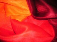 Maroon Rosso Arancione 100% SETA Rettangolo Belly Dance Danza VELI Wrap Sciarpa