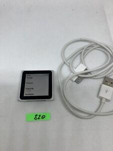 Apple Ipod Nano 6th Generation 8 Gb Aj820 Silver Ebay