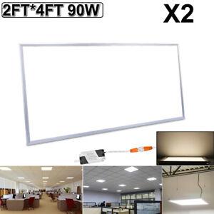 3 x ceiling light square LED Natural Light 4200 K Recessed Troffer