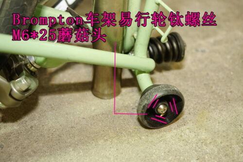Titanium TC4  M6*25 Ez Wheels Screw for Brompton Bicycle Frame Rack Easy Wheel