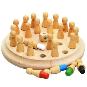 1*Kid Wooden Memory Match Stick Chess Game Fun Block Educational Board Gift O2Z0