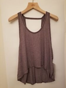 04eb0aa666784 Lululemon Intended Tank NWT 10 12 HBCR Heathered Black Currant Open ...