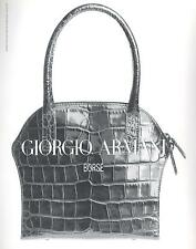 ▬► PUBLICITE ADVERTISING AD Sac Bag Borse Giorgio ARMANI