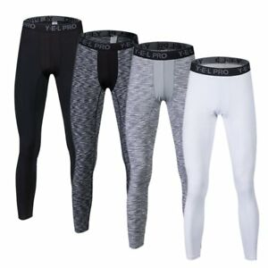 US-Men-Sports-Running-Compression-Pants-Gym-Workout-Base-Layers-Football-Tights