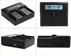 Dual-Battery-LCD-Quick-Charger-For-Sony-Li-ion-NP-F970-NP-F950-NP-F960-NP-F550