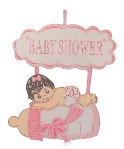 """Baby Shower Hanging mousse fille avec bouteille et Cloud Décoration 26/"""" Grand Large 22/"""""""