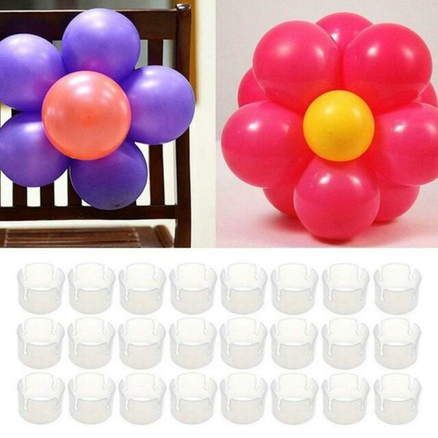 50pcs Balloon Arch Stand Connectors Clip Ring Buckle Birthday Wedding Decor O7J5