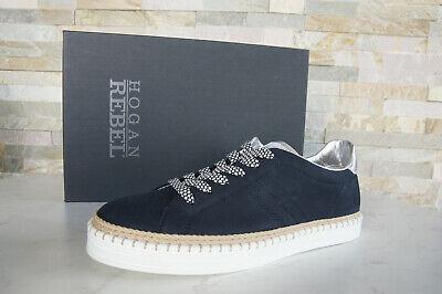 Hogan Rebel Size 39,5 Sneakers Lace Up Shoes Blue Denim New ...