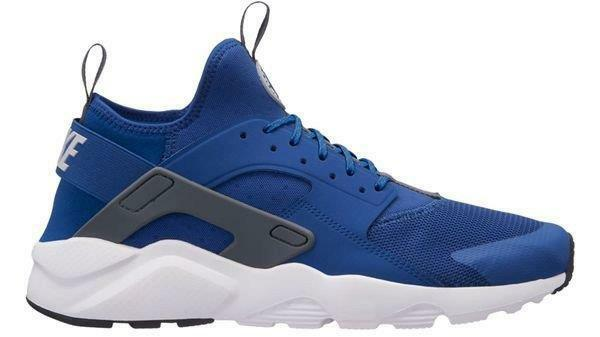 Nike Air 411 huarache Run ultra 819685 411 Air gimnasio azul / Wolf Gris / Blanco - Mesh / neopreno 8fd3a8