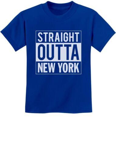 Straight Outta New York From NY City Youth Kids T-Shirt Gift Idea
