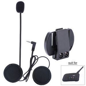 Helmet Headset Earphone +Clip for V6 1200M 6Riders Motorcycle Bluetooth Intercom