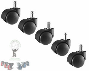 5 Double Castor Wheel Computer Office Chair Casters Double Wheel Swivel Replace
