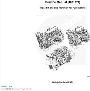 cummins service repair manual isbe isb qsb common rail fuel system rh ebay com cummins kta38 service manual pdf cummins m11 service manual