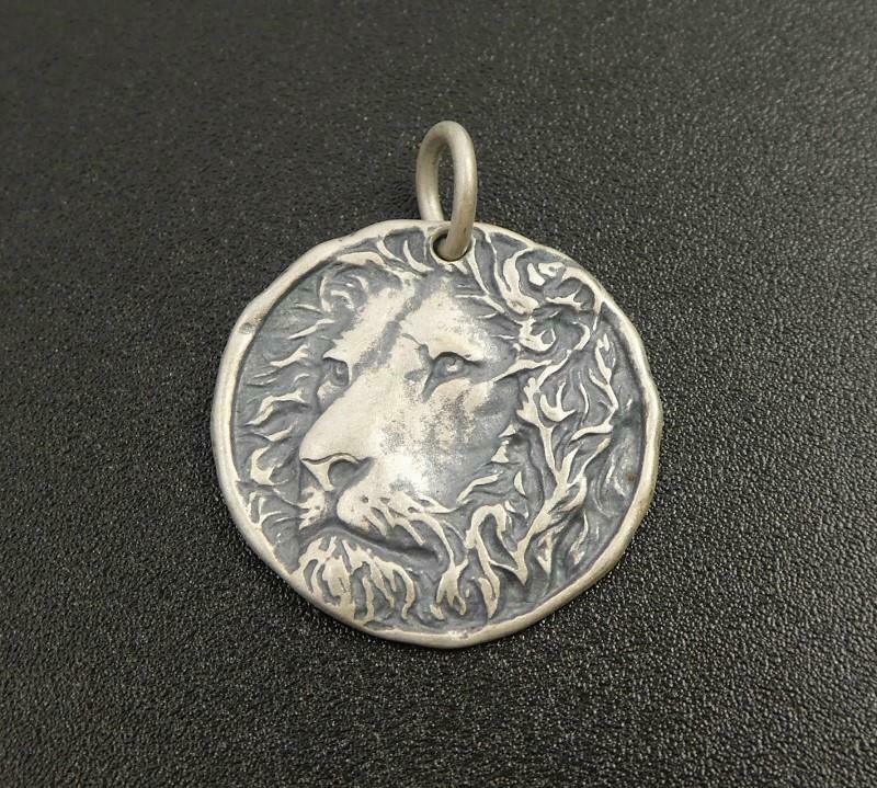 Silver Caveman Necklace  Gold Ancient Wall Pictures Pendant  925 Silver Oxide Shaman Medallion  Cave Pictures  Authentic Gift For Him